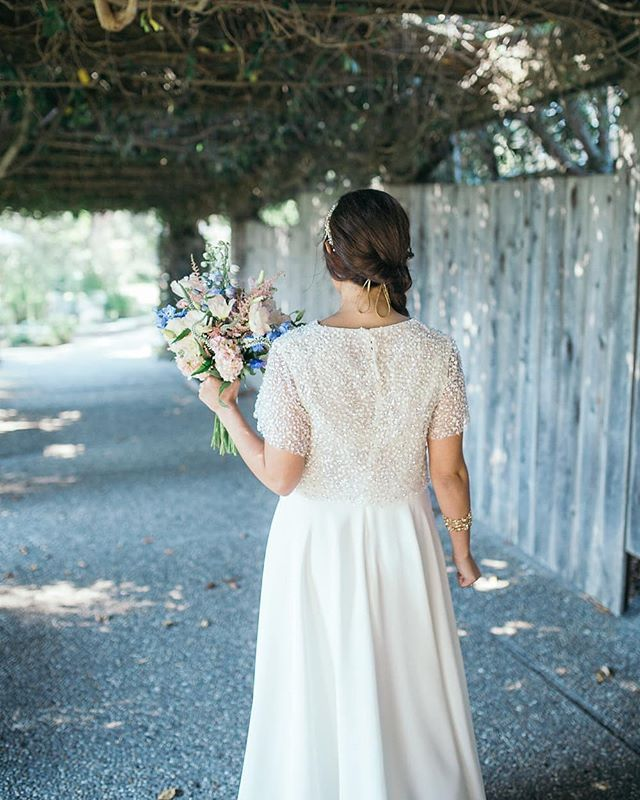 An elegant chic two-piece wedding dress is everything. And those ...