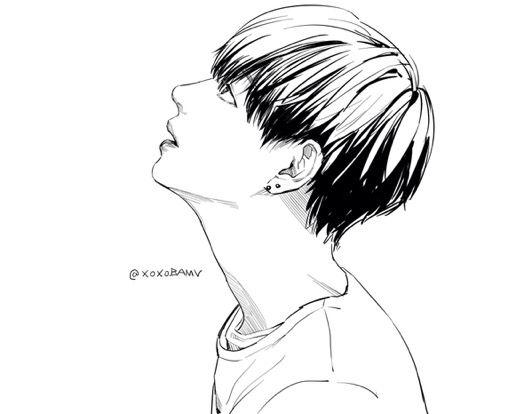 Q Line Art : Bts taehyung v fan art pinterest dibujo