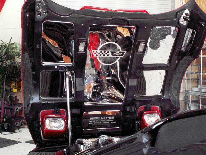 C4 Corvette 1988 1996 8pc Stainless Hood Panel Set Corvette Corvette Engine Hood