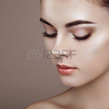 hair beauty beautiful woman face perfect makeup beauty