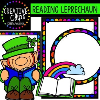 free reading leprechaun creative clips digital clipart freebies rh pinterest com digital clipart for teachers
