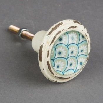 5 95 Bouton De Meuble Bleu D Inspiration Orientale Decorez Vos