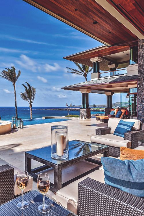 Beachfront Luxury Modern Home Exterior At Night: Dream Beach Houses, Mansions, Mansions Luxury