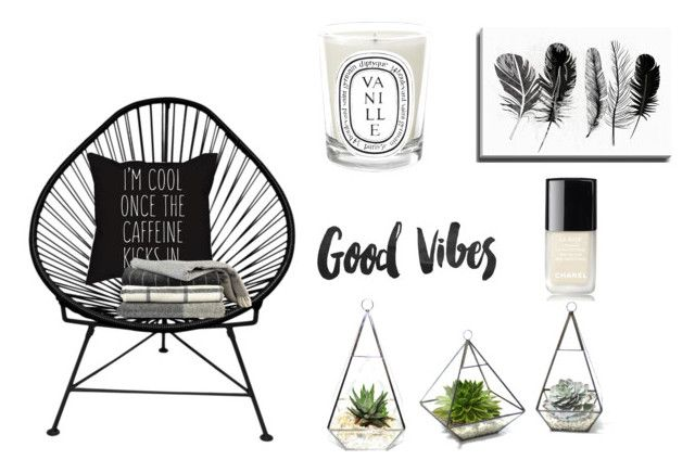"""""""Room decor #1"""" by evicamps ❤ liked on Polyvore featuring interior, interiors, interior design, home, home decor, interior decorating, Innit, Bashian, Diptyque and Chanel"""
