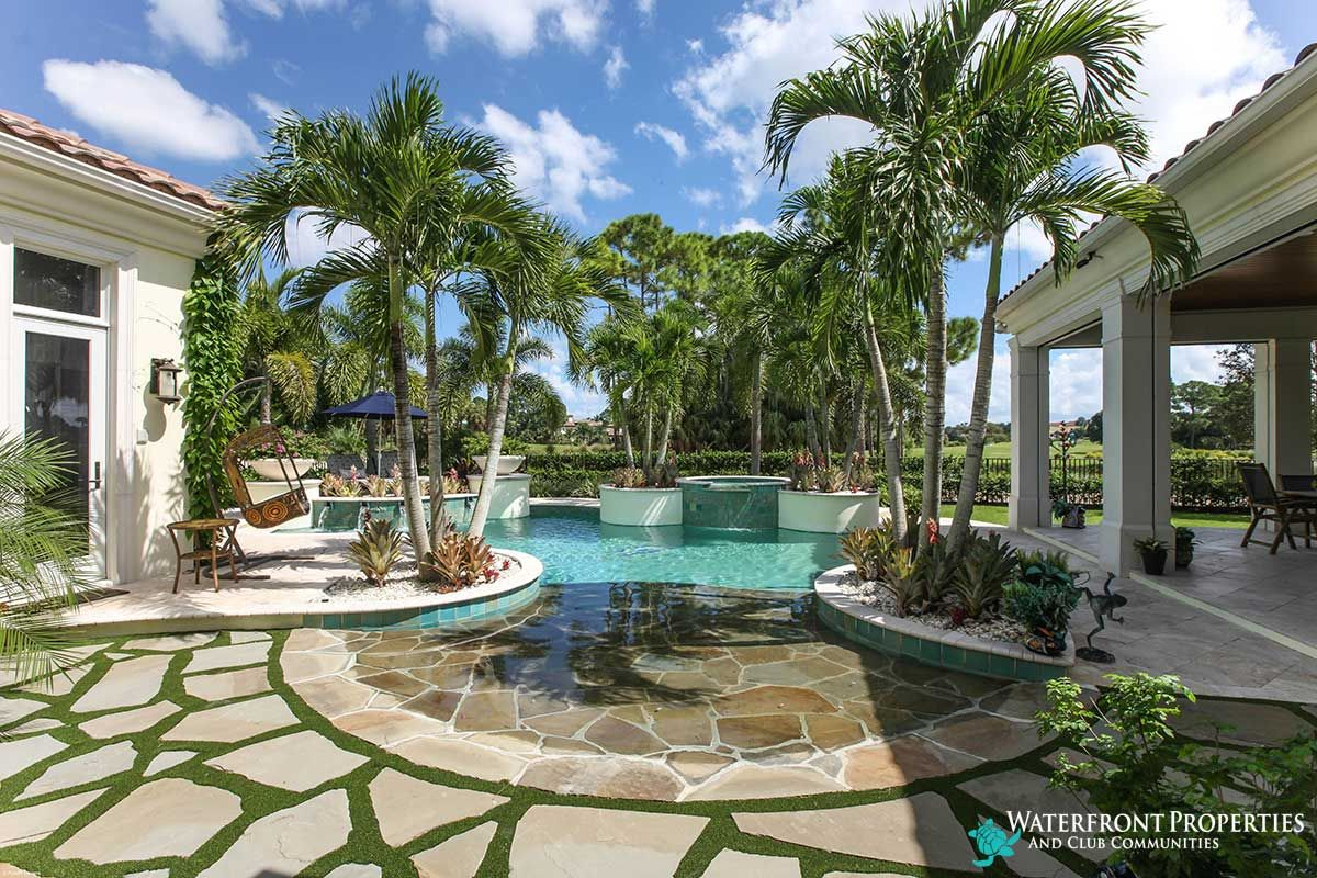 beach enry pool with awesome stone work in the yard | Old Palm ...