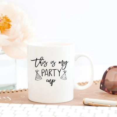 This Is My Party Cup Mug - www.creationsbysasha.com
