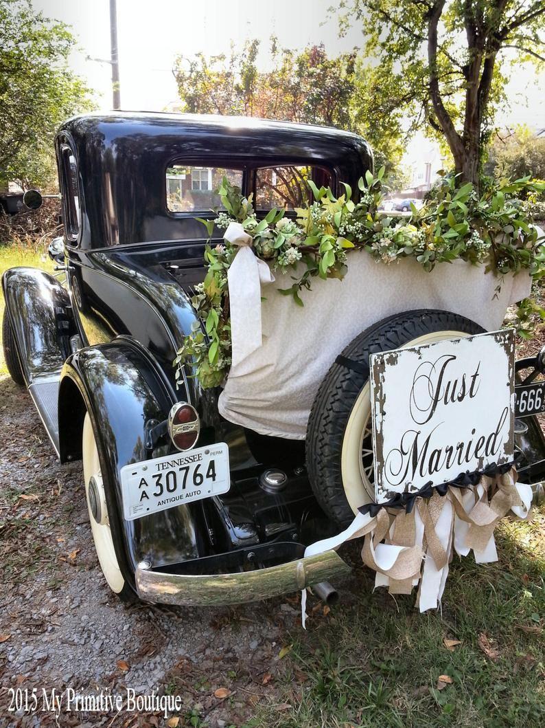 just married sign ring bearer sign flower girl sign just