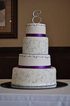 The Jenna Cake- purple and silver wedding cake   wedding ...