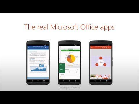 Microsoft Word, Excel y PowerPoint para smartphones