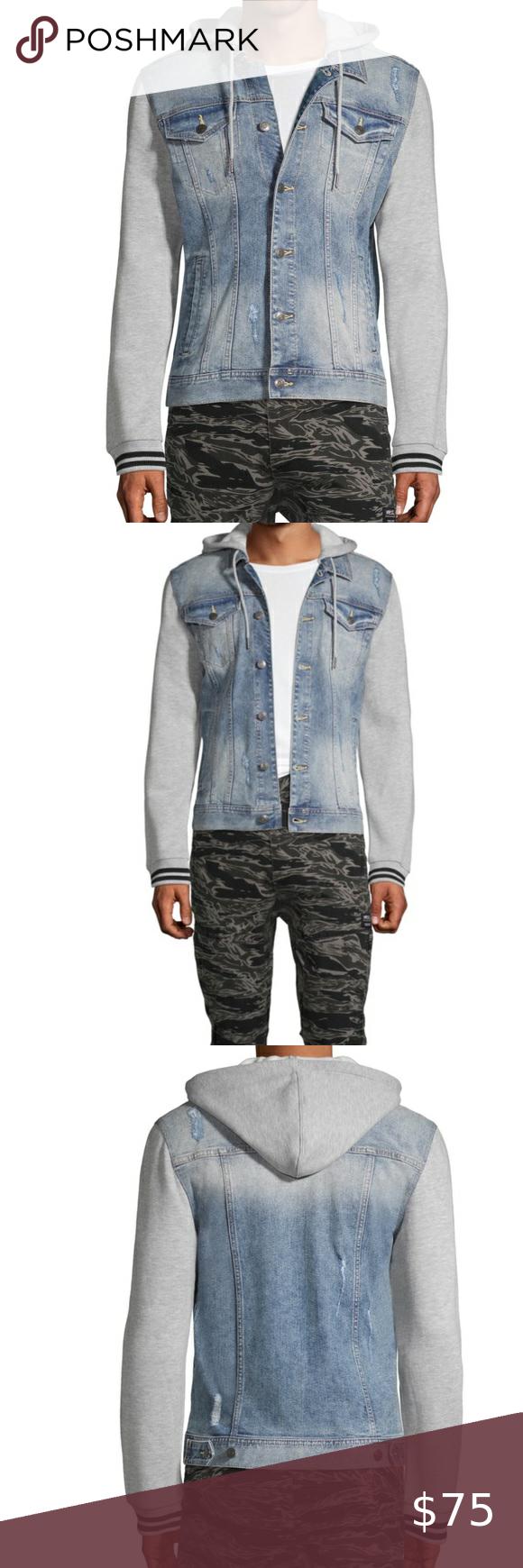 Classic Denim Hoodie Jean Jacket Jean Jacket Hoodie Classic Denim Jacket Denim Hoodie [ 1740 x 580 Pixel ]