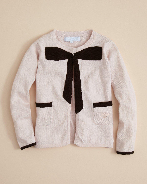 9c74374a3c4 Tartine et Chocolat Girls' Cashmere Bow Cardigan - Sizes 2-6 ...