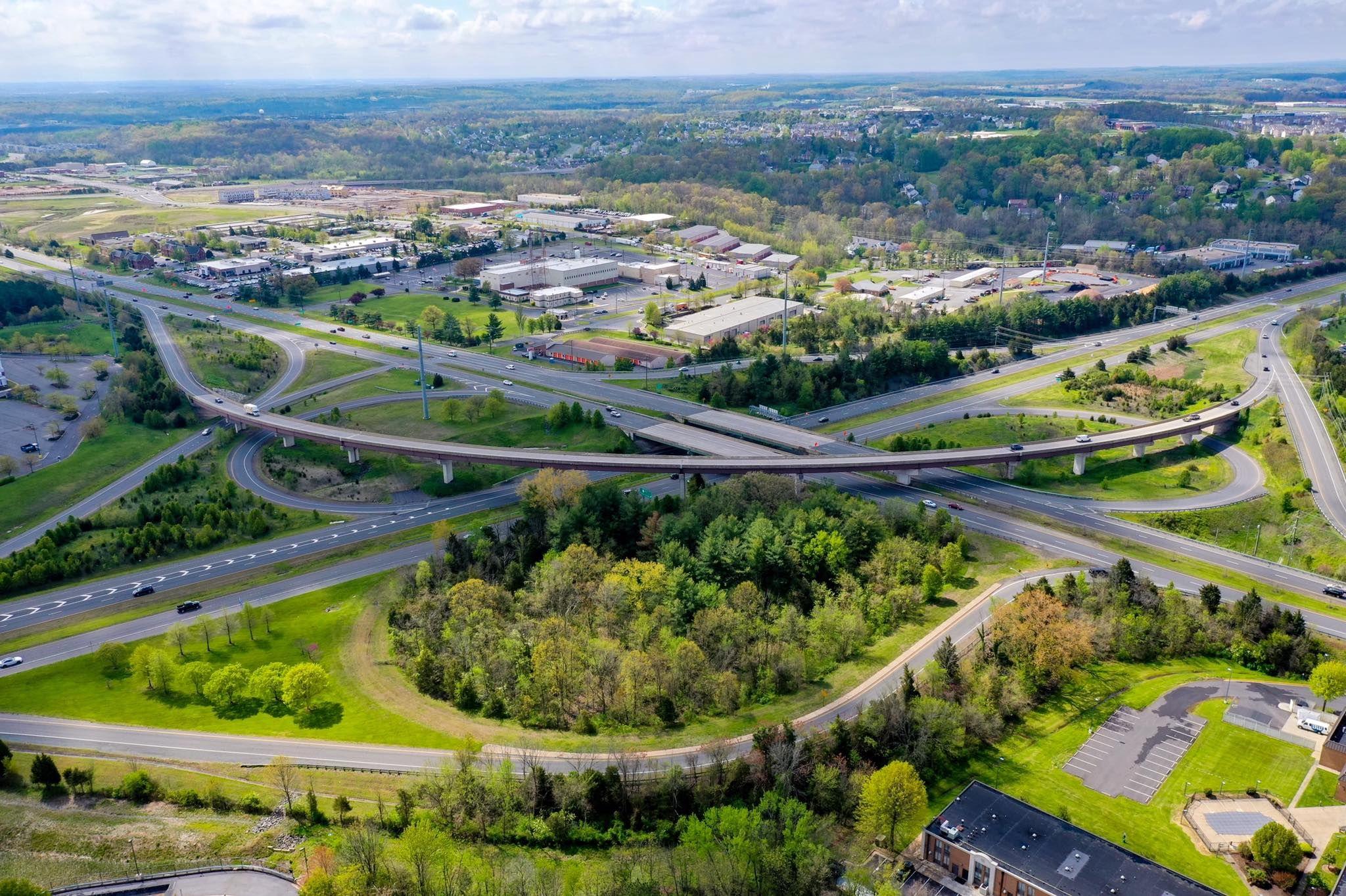 Leesburg, Virginia, Route 7 & Route 15 interchange.