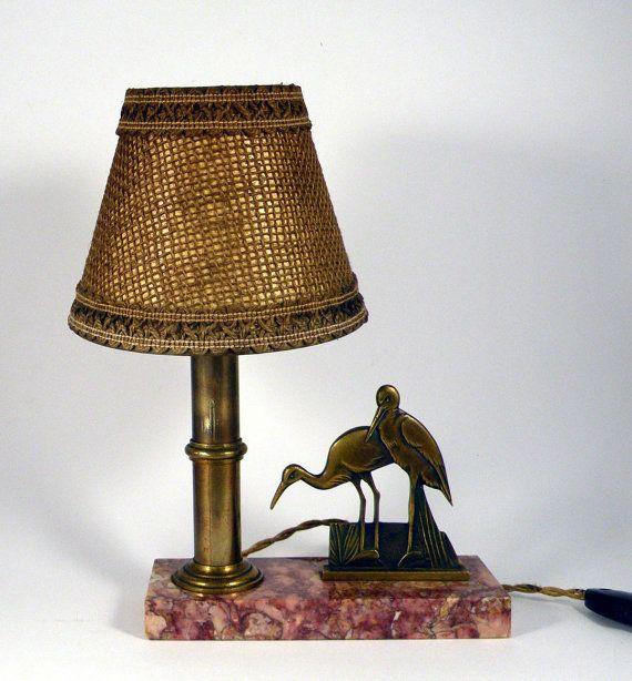 Vintage desk lamp french desk lamp art deco desk lamp table vintage desk lamp french desk lamp art deco desk lamp table lamp animal lamp vintage lamp mood lamp french vintage lamp stork lamp mozeypictures Choice Image