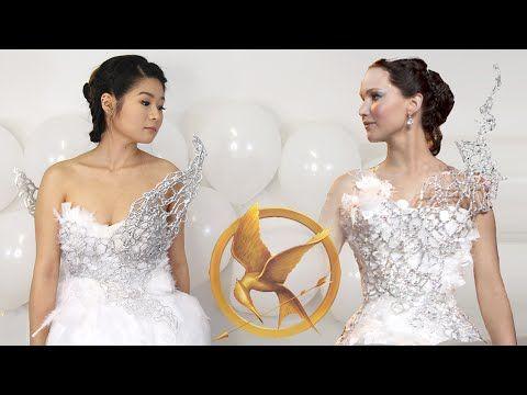 DIY Hunger Games Catching Fire Katniss Everdeen Wedding Dress | Halloween - YouTube  sc 1 st  Pinterest & DIY Hunger Games Catching Fire Katniss Everdeen Wedding Dress ...