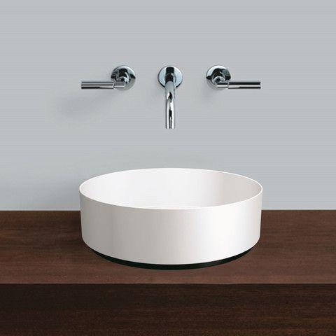 Alape Unisono Glazed Steel Countertop Basin 375mm Diameter - AB.KE375 – Mushroom Designs www.mushroomdesigns.co.uk