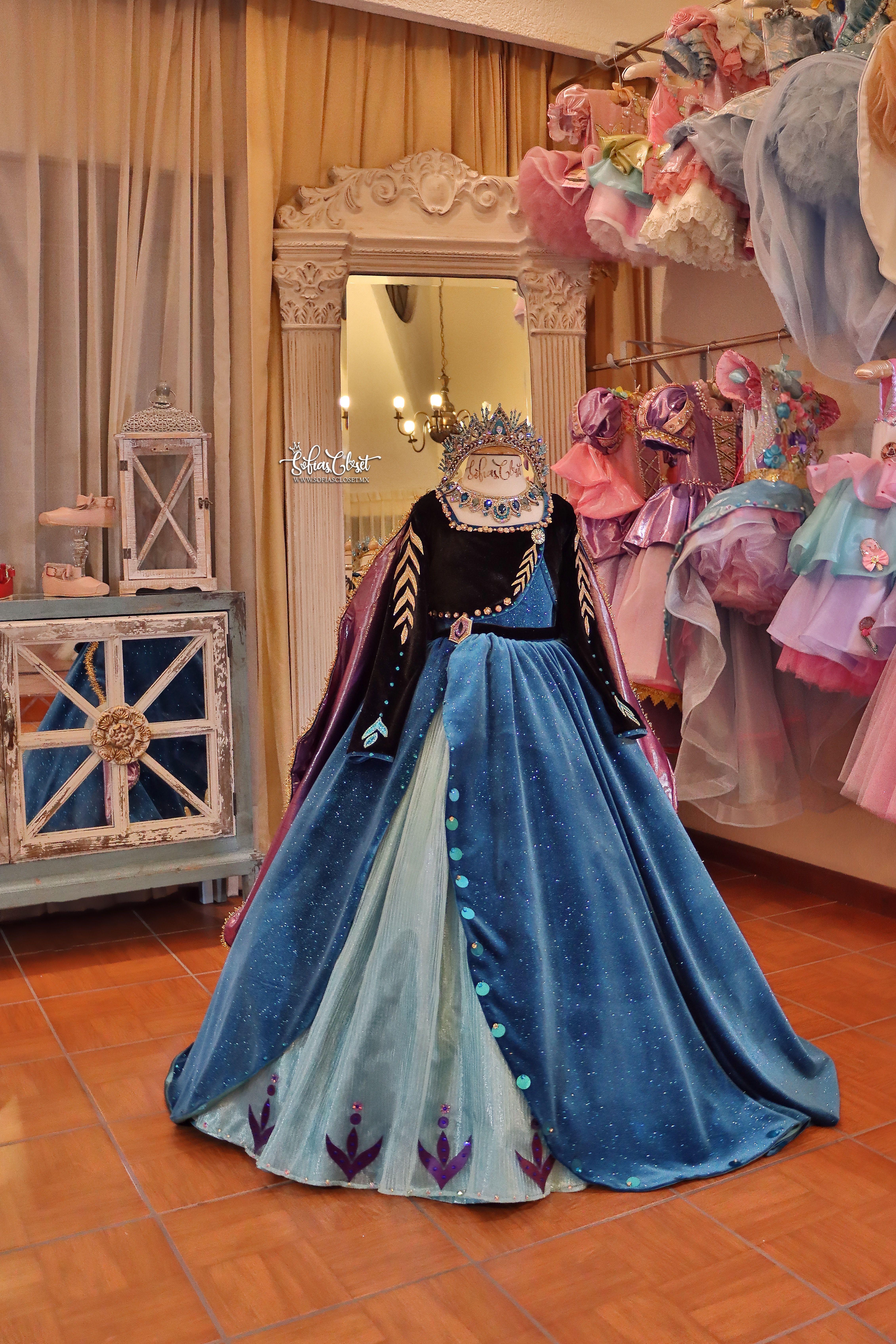 Anna Frozen Ll Vestidos De Princesa Para Ninas Vestidos De Fiesta Para Ninas Vestidos Frozen Nina