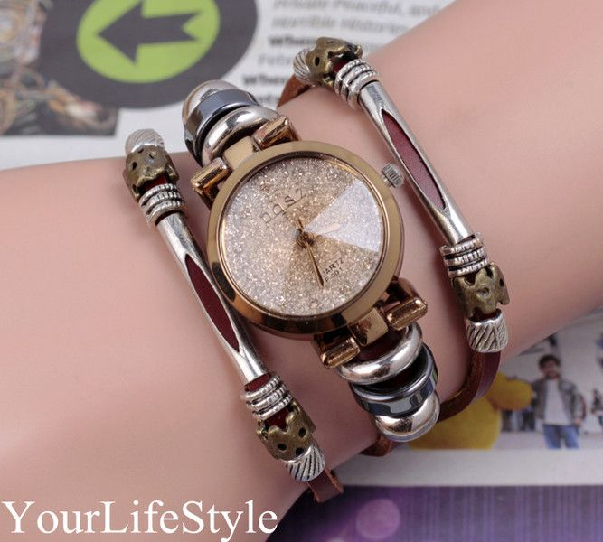 Lady's Fashion Bracelet Watch Classic Golden Edge  from yourlifestyle by DaWanda.com