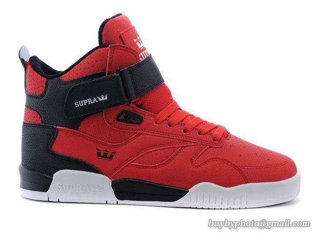 Mens Supra Bleeker High Skateboard Shoes S02100-RDB Red