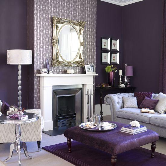 10 Amazing Purple Rooms Purple Living Room Contemporary Living