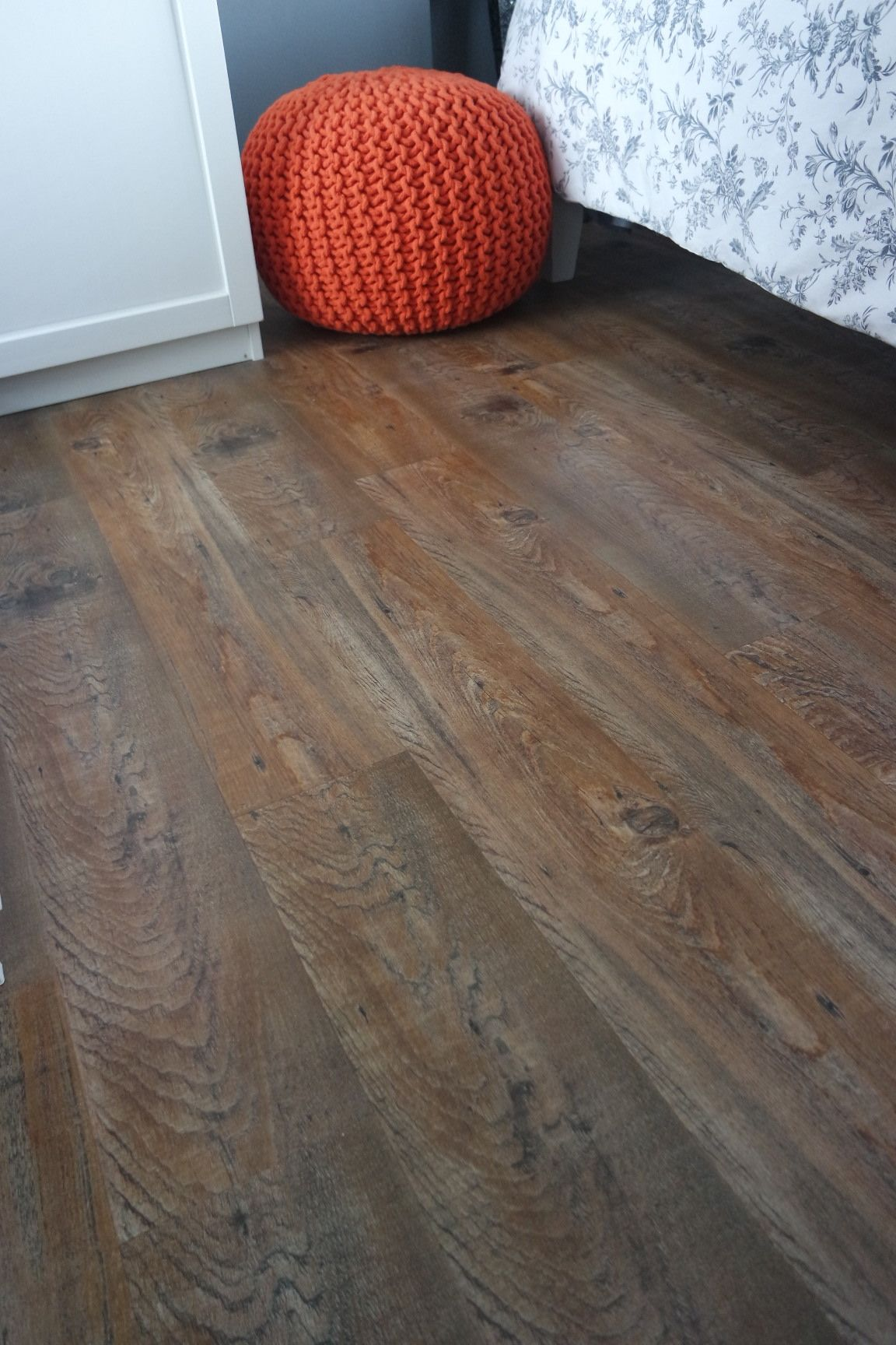 Ambiance Luxury Vinyl Flooring Tiles Giving A Real Wood Feel To A Small Double Bedroom Colour Ru Vinyl Flooring Luxury Vinyl Flooring Small Double Bedroom