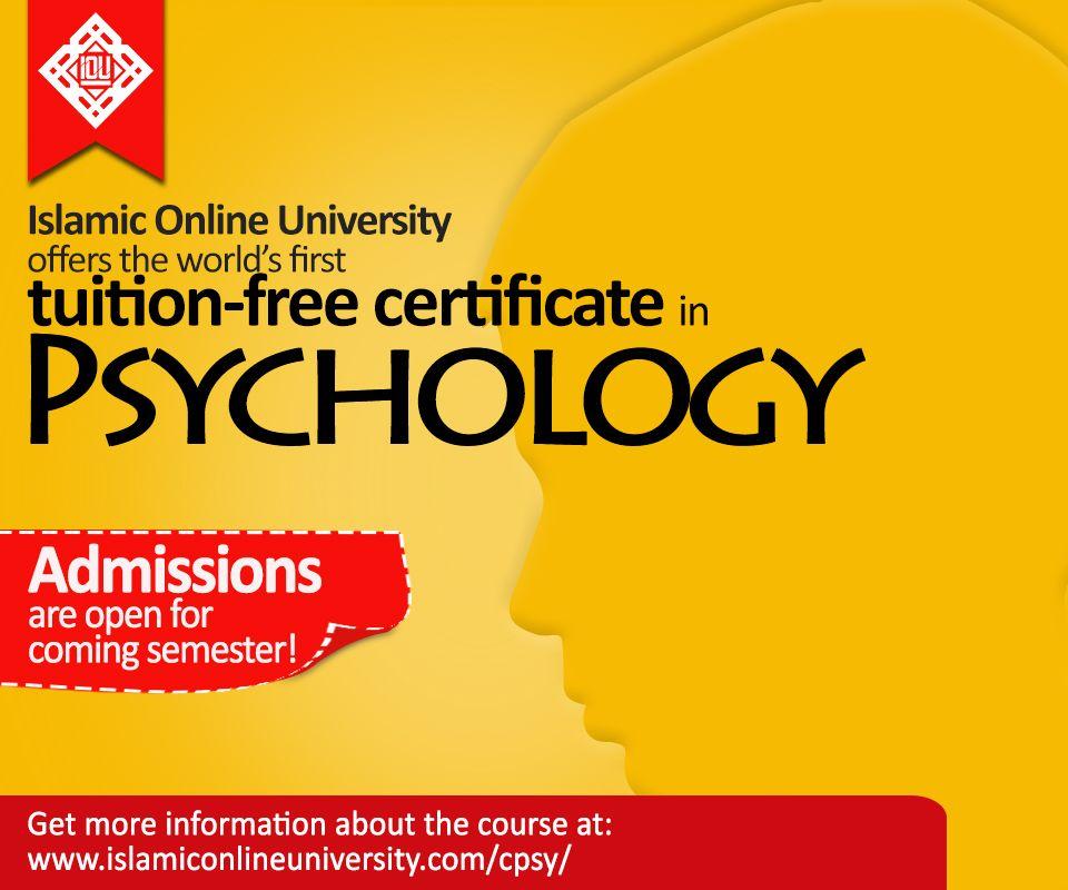 Islamic Online University Offers A Certificate In Psychology