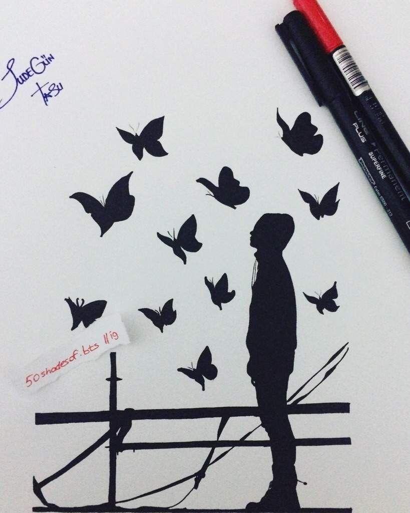 Taehyung Bts Fanart Art Pinterest Bts Drawings Kpop