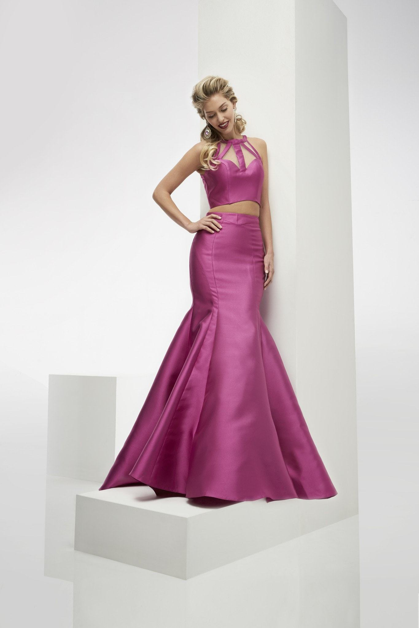 Jasz Couture 5907 Fuchsia Two-Piece Mermaid Prom Dress
