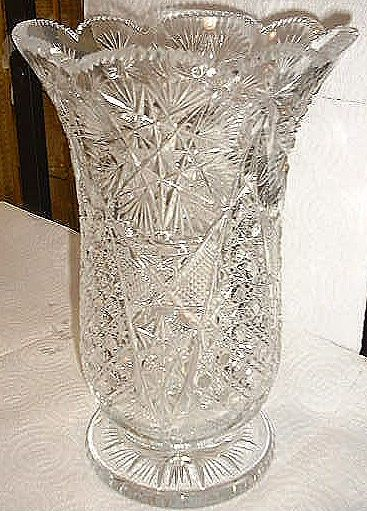 Crystal Vase Antique Cut Etched Crystal Glass Pinterest