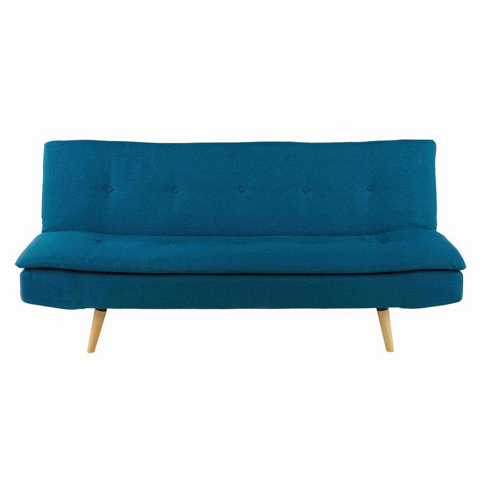 Small And Stylish Sofabeds For A Small Space Living Room Petrol Blue 2 3 Seater Fabric Sofa Bed Dakota Maisons Du Mond Sofa Azul Sofa De 3 Plazas Cama Azul