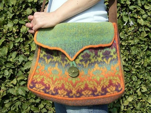 Kauni Damask Understated Bag - free ravelry download | fiber art ...