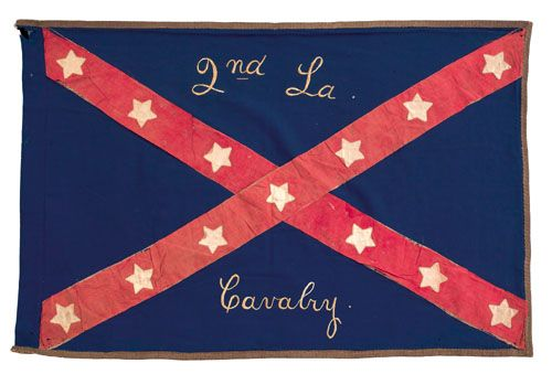 An Important Confederate Civil War Flag For The 2nd Louisiana Cavalry Captured At Henderson Louisiana Civil War Flags Civil War Confederate