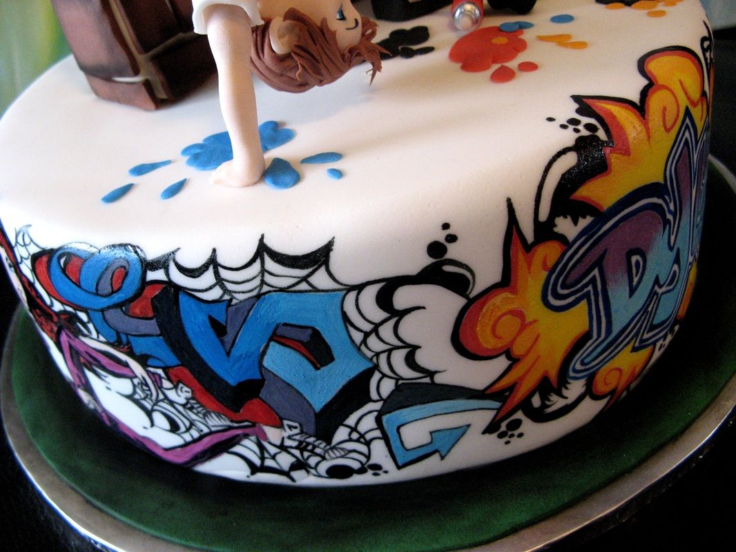 This Graffiti Birthday Cake Was Baked By Icing By Design She Has