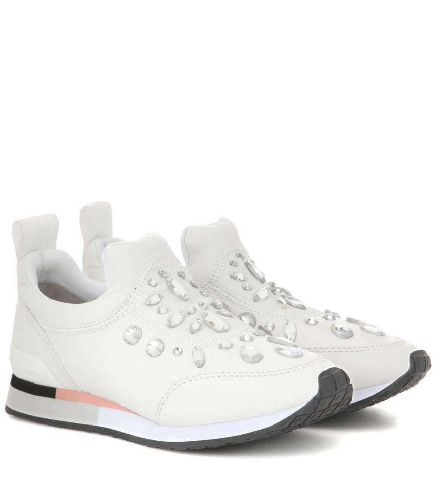 Image result for white sneakers 2017 trend embellishments