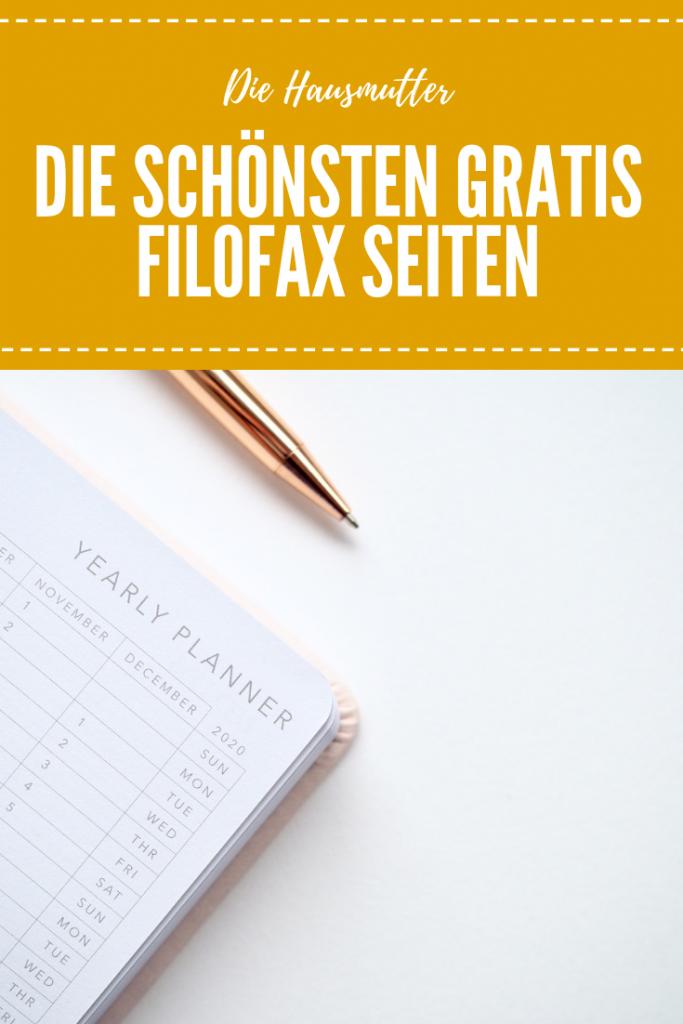 Die besten kostenlosen Dateien für Filofax