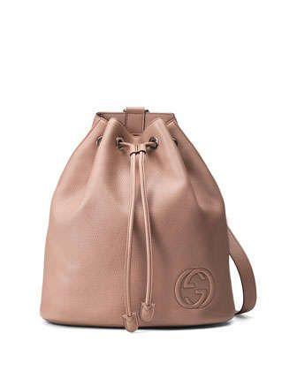 53e01afa5ce Soho Leather Drawstring Backpack