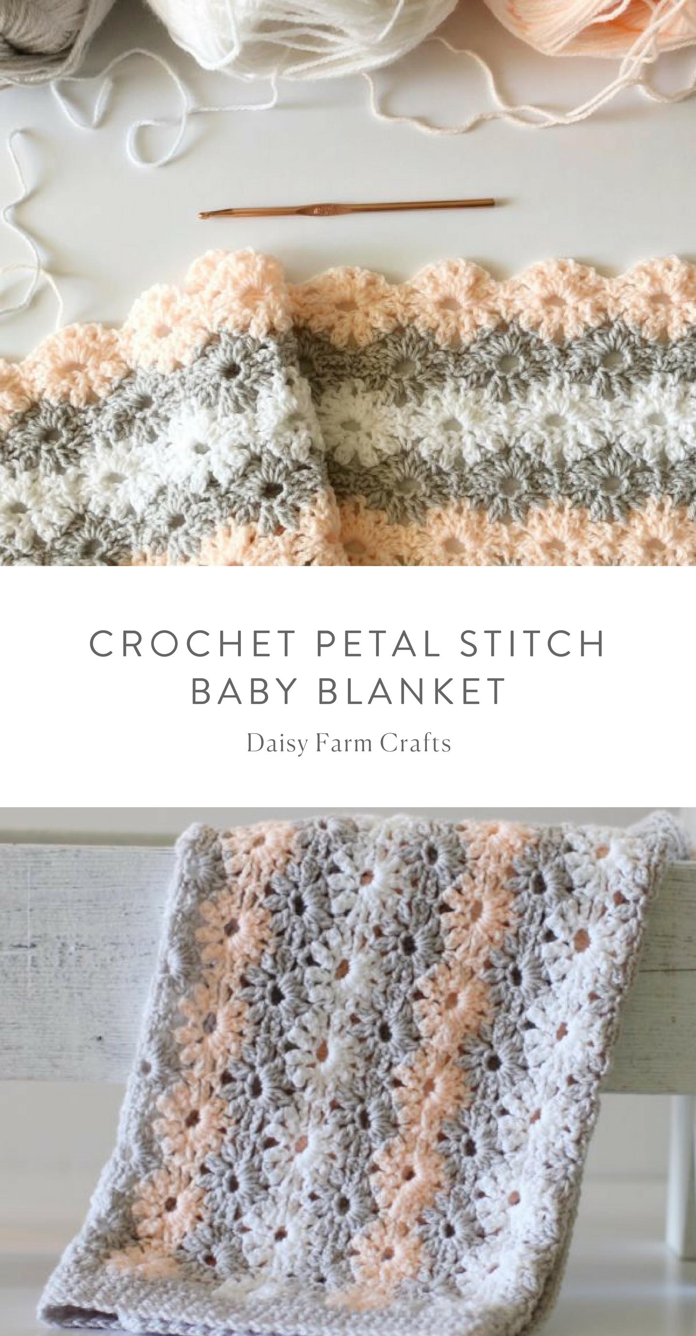 Free Pattern - Crochet Petal Stitch Baby Blanket #crochet | crochet ...