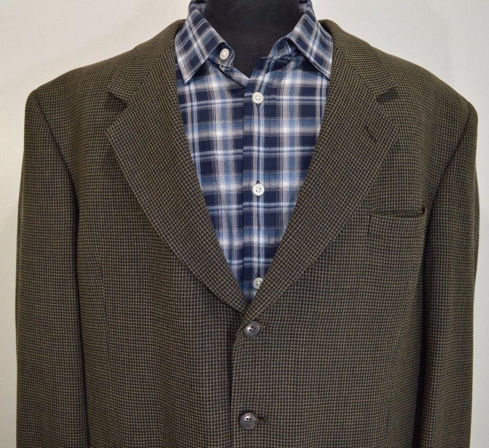 MINT MACHADO mens wool 3 button sport coat blazer suit jacket 48R 48 regular R #MACHADO #ThreeButton