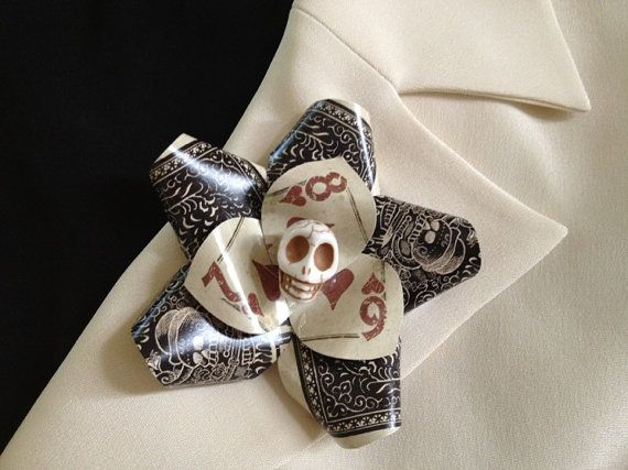 Red Dead Redemption Skull Playing Card Lapel Pin Boutonniere (Limited Edition) by LittleAsianSweatshop, $26.00