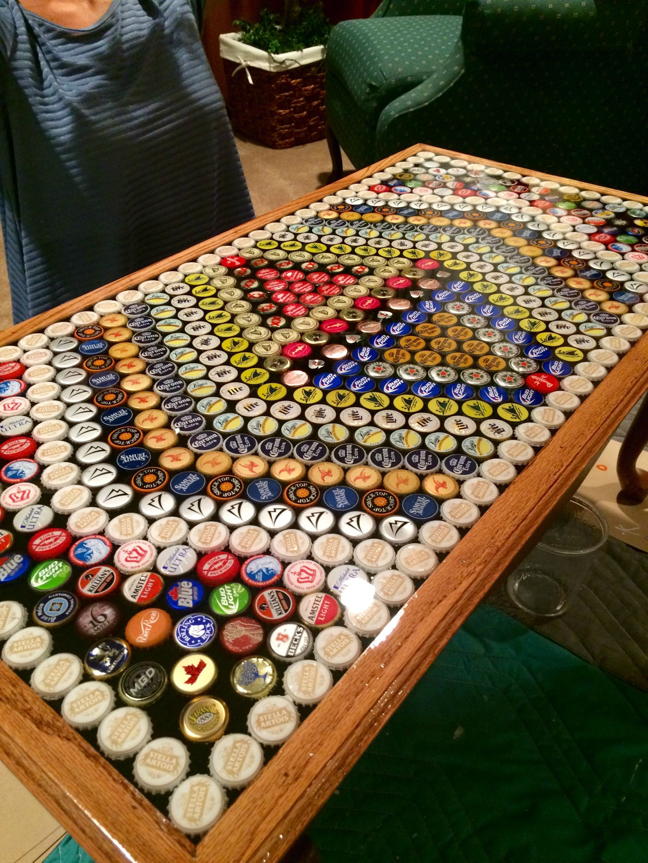 Beer Cap Table Beer Cap Table Bottle Cap Table Bottle