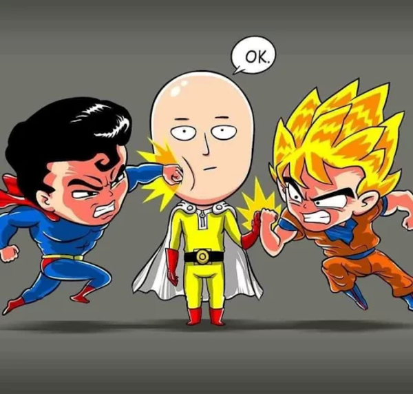Every Time You See A Who Would Win Fight One Punch Man One Punch Man Anime Saitama One Punch One Punch Man Funny