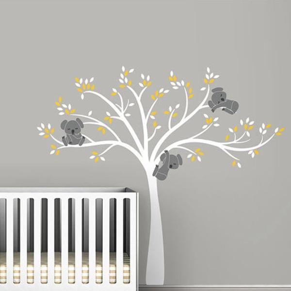 Stickers Muraux Chambre Bebe Arbre Koala Enfant Fille Garcon Mural