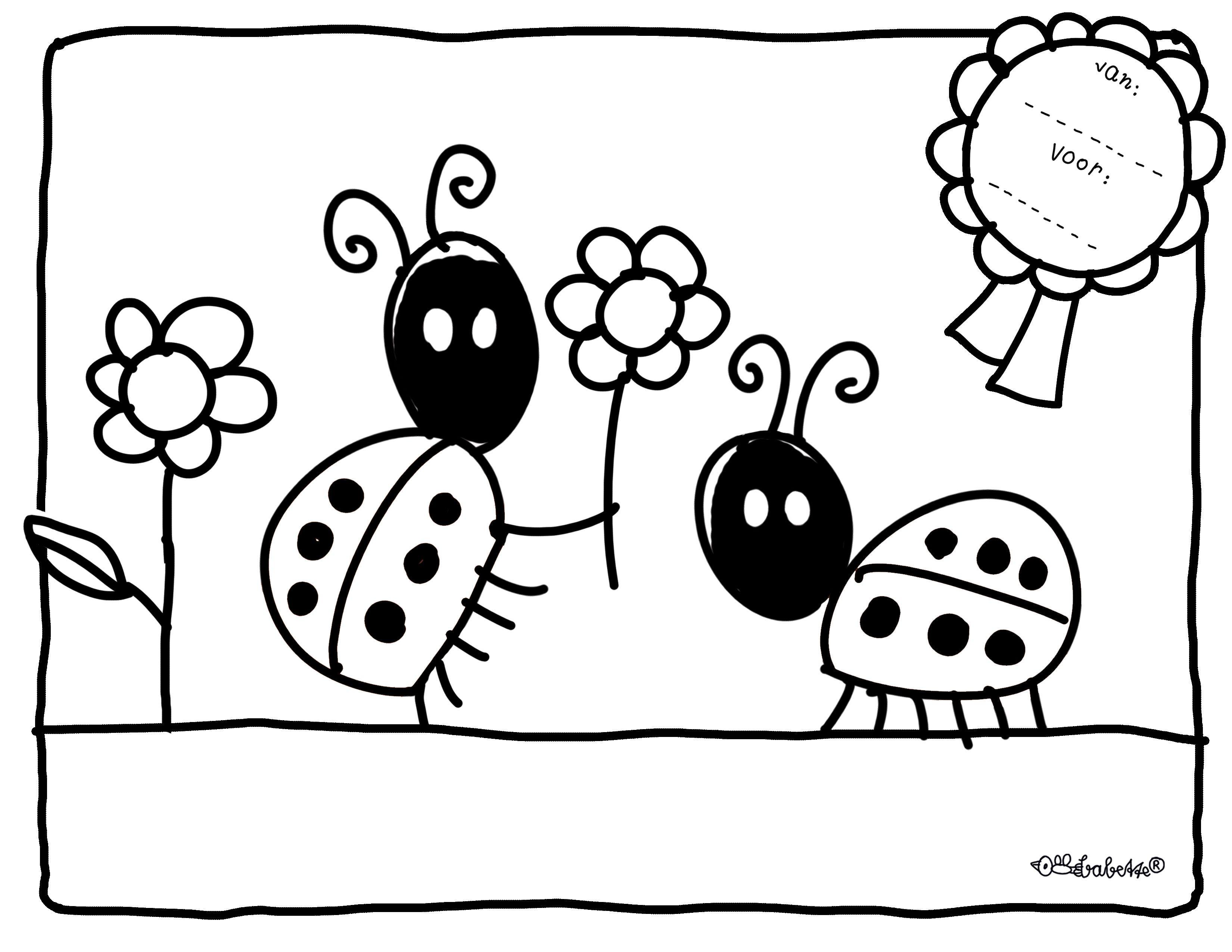 Kleurplaat Liefebees Jpg 3 300 2 550 Pixels Kleurplaten Lieveheersbeestje Knutselen Lieveheersbeestje