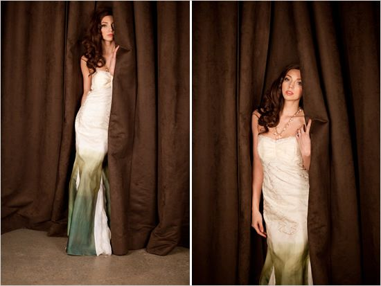 ombre-wedding-dress-green | wedding - offbeat bride | Pinterest ...