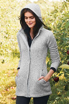 111628702 Women s Sweater Fleece Parka from Lands  End