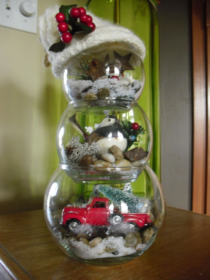 Another Cute Fish Bowl Snowman Pinterest Christmas Crafts Easy Diy Christmas Gifts Snowman Christmas Decorations