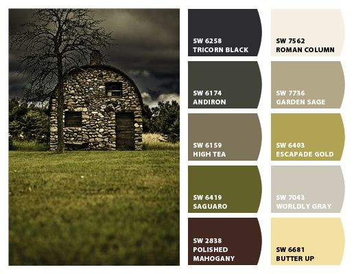 Stone Barn Color Palette Inspiration For Exterior Home