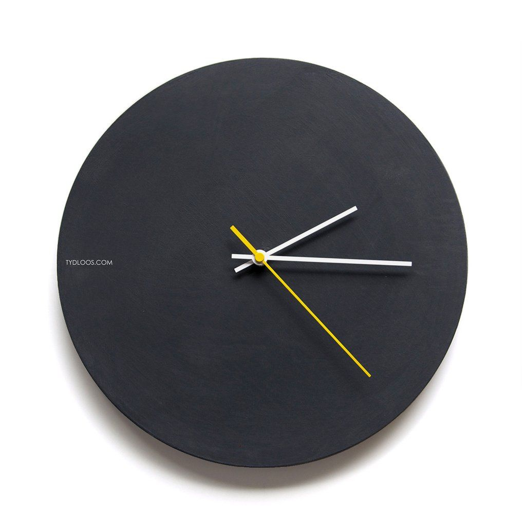 Black Board Wall Clock In