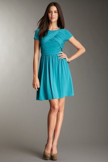 Ellen Tracy  Ruched Short Sleeve Dress  $49.00  $129.00  62% off