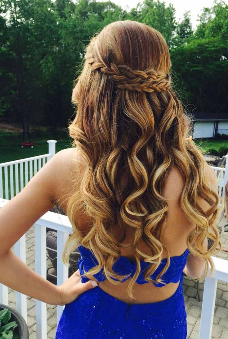 Prom hairstyles for long hair confuse many because they wonder ...
