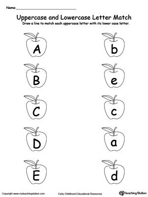 matching uppercase and lowercase letters a through e alphabet worksheets uppercase. Black Bedroom Furniture Sets. Home Design Ideas
